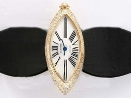 Fake Vintage Cartier Montre Calisson De Gold veske Diamond AAA Klokker [ T7C6 ]