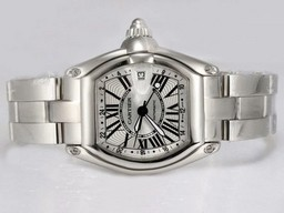 Fake Vintage Cartier Roadster Movement GMT Arbeide med White Dial AAA Klokker [ E6P1 ]